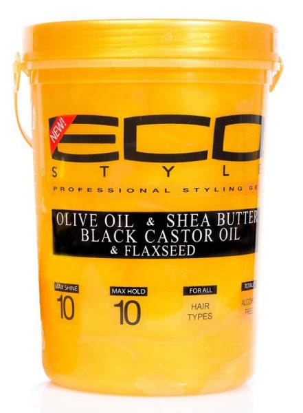 EcoStyle Styling Gel Olive Oil & Shea Butter Black Castor Oil & Flaxseed 2,36L