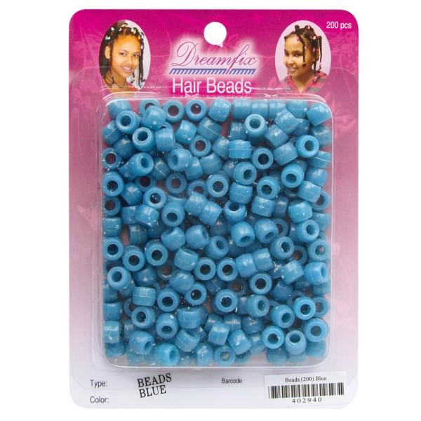Dreamfix Hair Beads/Haarperlen, Blue, 200er Pack