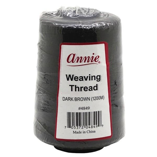 Annie Weaving Thread Dark Brown 1200M