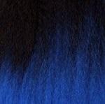 Schawarz-Blau Mix Ombré T1B/Blue